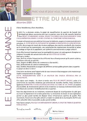 Lettre du Maire – Décembre 2020
